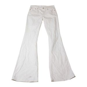 Polo Ralph Lauren White High-Rise Flared Jeans 30